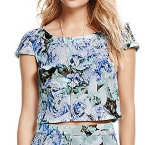 Jessica Simpson floral crop top